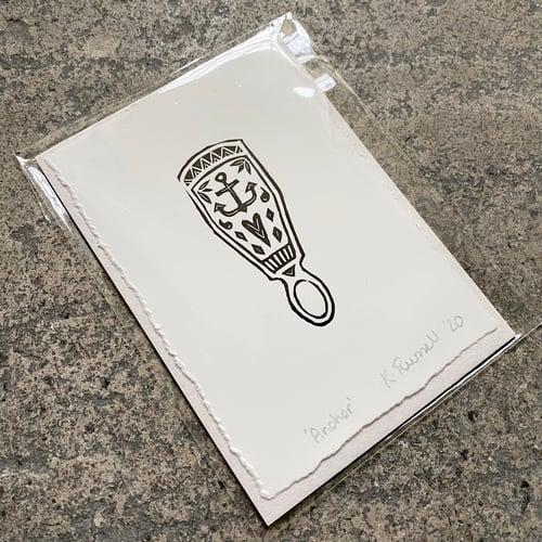 Image of 'Anchor' Love-spoon Mini Print