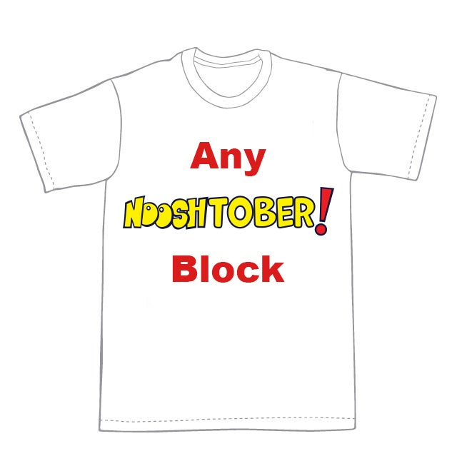 Nooshtober! T-shirt blocks LIMITED TIME OFFER **FREE SHIPPING**