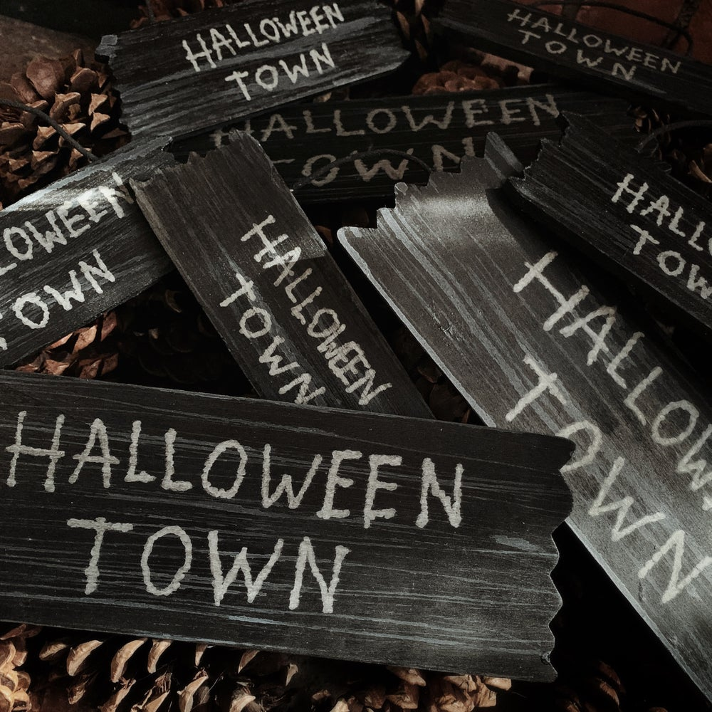 Image of Halloween Town Decor Sign