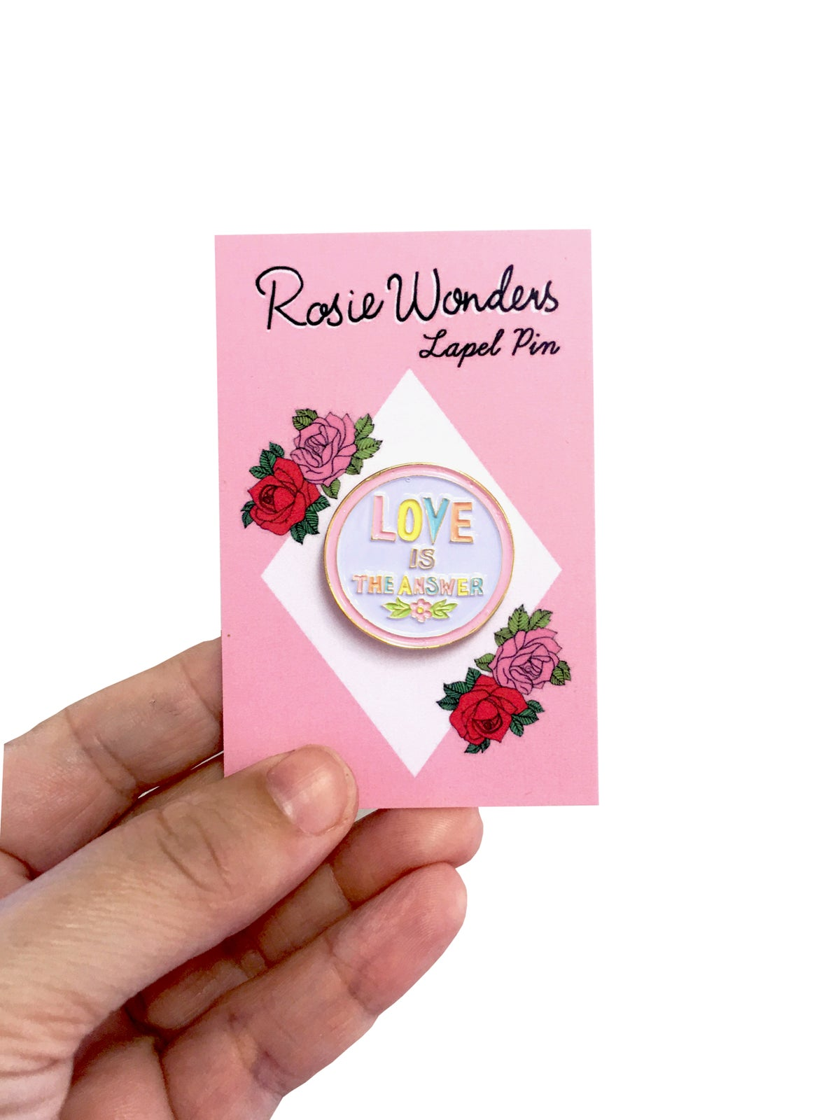 Love is The Answer Enamel Pin