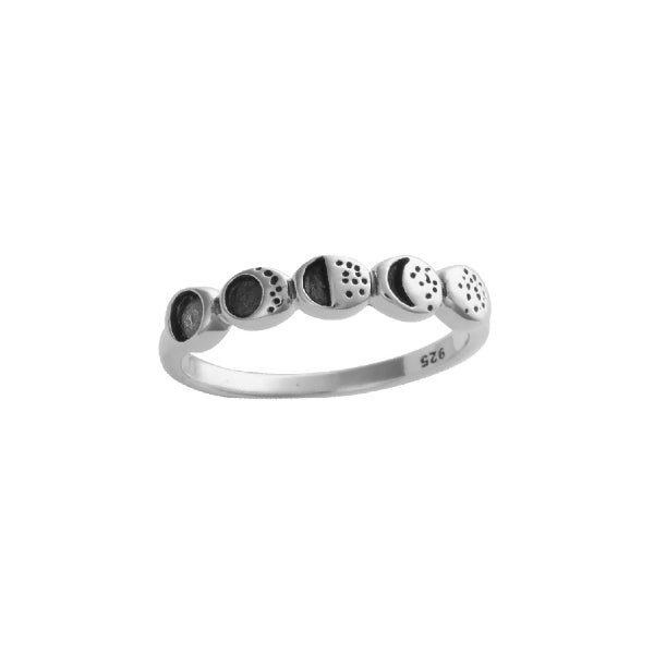 Image of Moon Phase Ring Sterling Silver