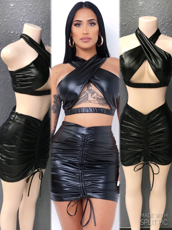 Image of Evette 2 piece skirt set