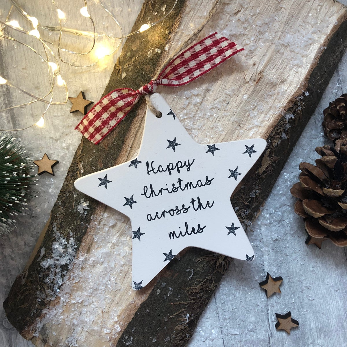Image of Ceramic 'across the miles' Christmas Star Decoration