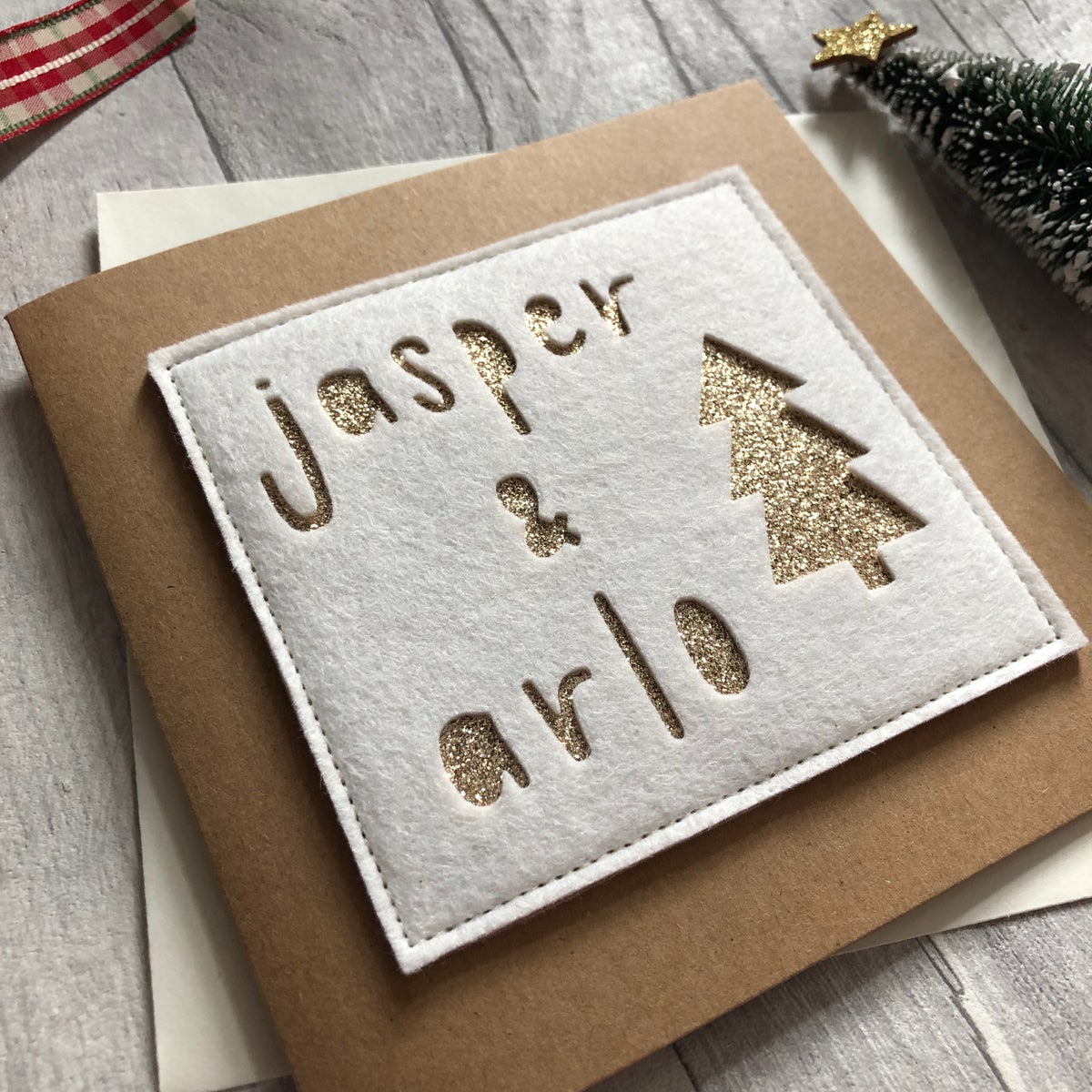 Image of Children's names Christmas card
