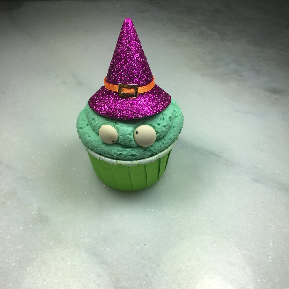 Image of Wicked Apple Bath Bomb Cupcake.