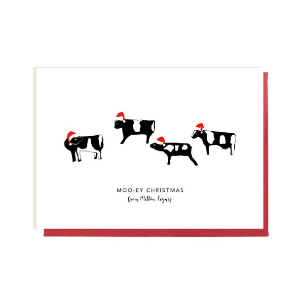 Image of Moo-ey Christmas from Milton Keynes Cow Card