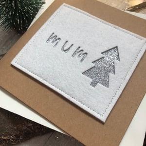 Image of Female relation Felt Christmas Card