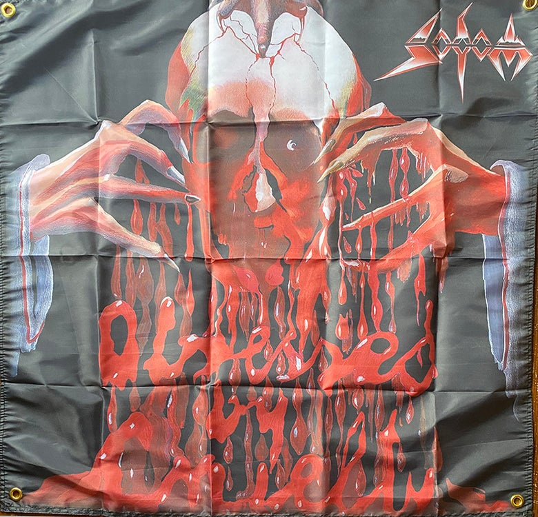 "Image of Sodom "" Obsessed by Cruelty ""  Flag / Tapestry / Banner"