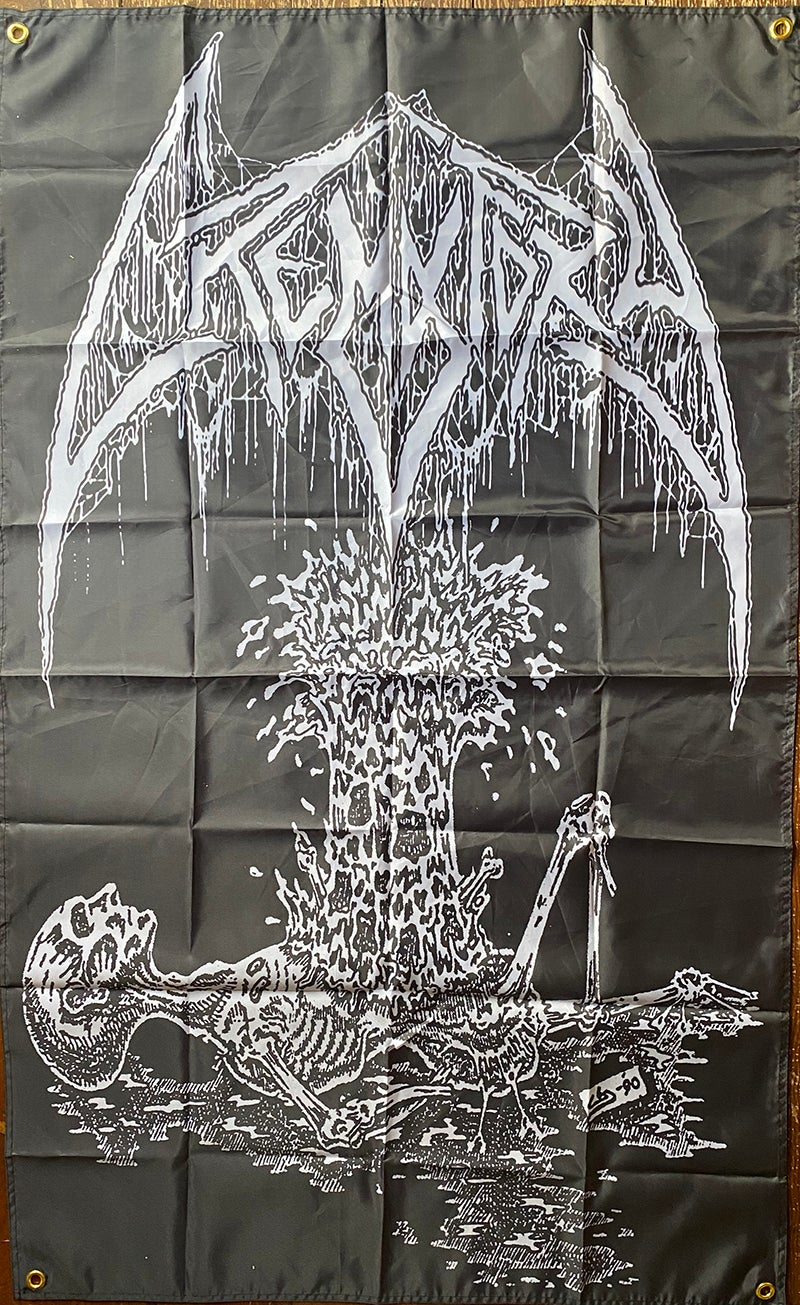 """Image of Crematory """"  Exploding Chest """"  - Banner / Tapestry / Flag"""