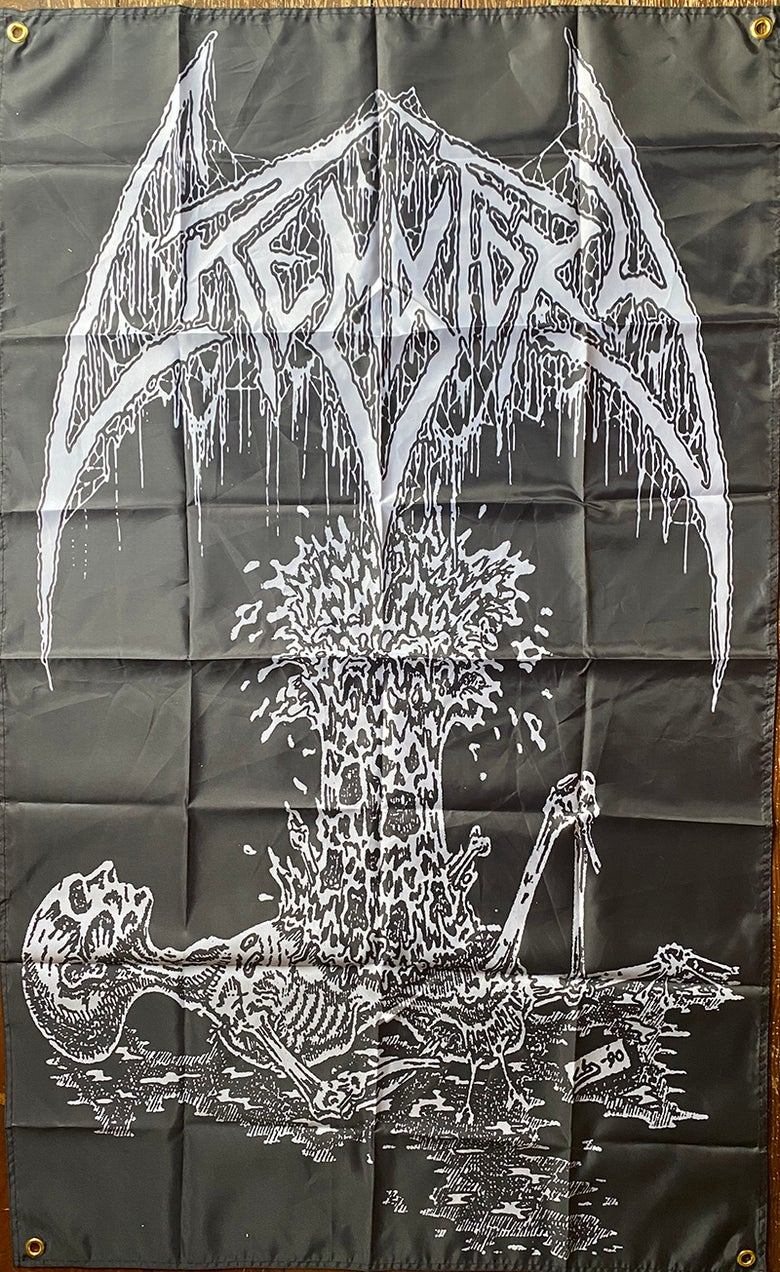 "Image of Crematory ""  Exploding Chest ""  - Banner / Tapestry / Flag"