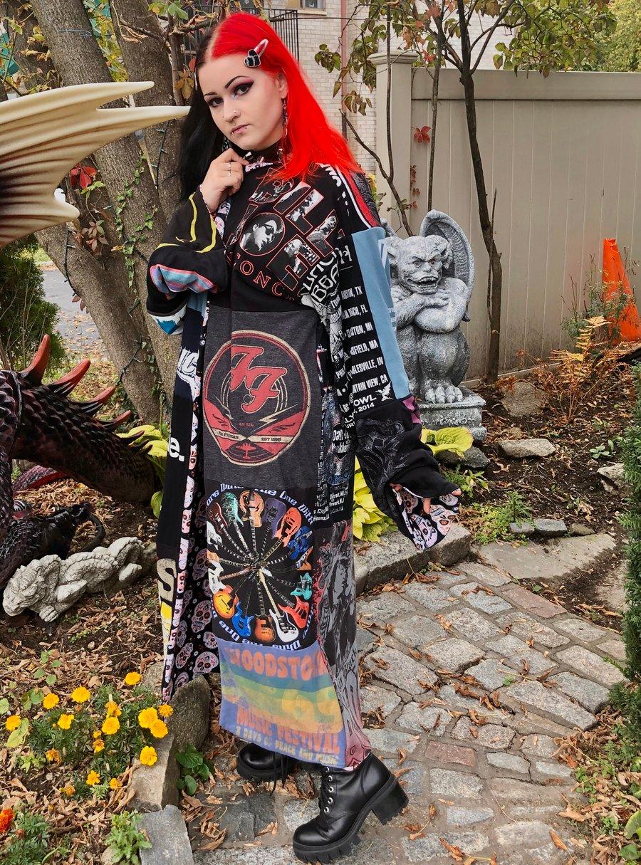 Image of Classic Rock Band Tee Kimono