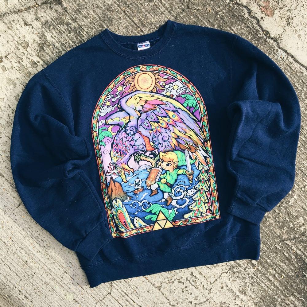 Image of Original 2002 Zelda Wind Waker Crewneck Sweatshirt.
