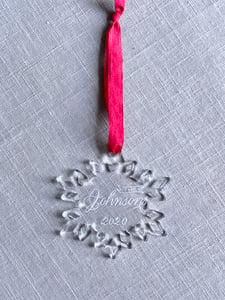 Image of Custom Engraved Snowflake Acrylic Ornament
