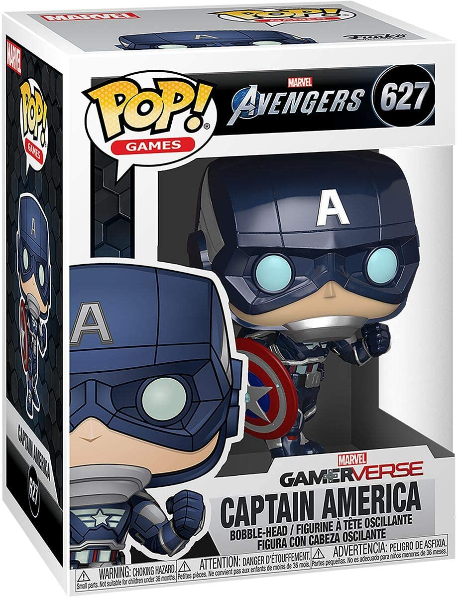 Funko Pop! Marvel: Avengers Game - Captain America (Stark Tech Suit)