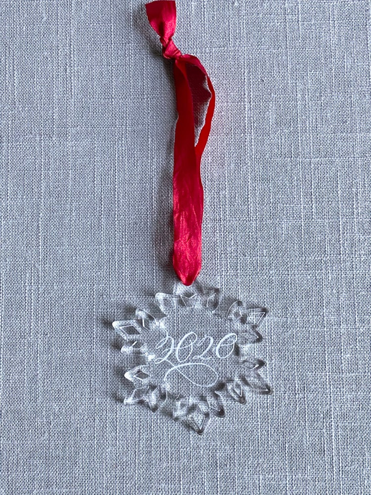 Image of 2020 Engraved Snowflake Acrylic Ornament