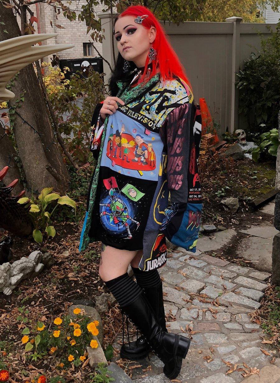 Image of Retro Band Tee Kimono
