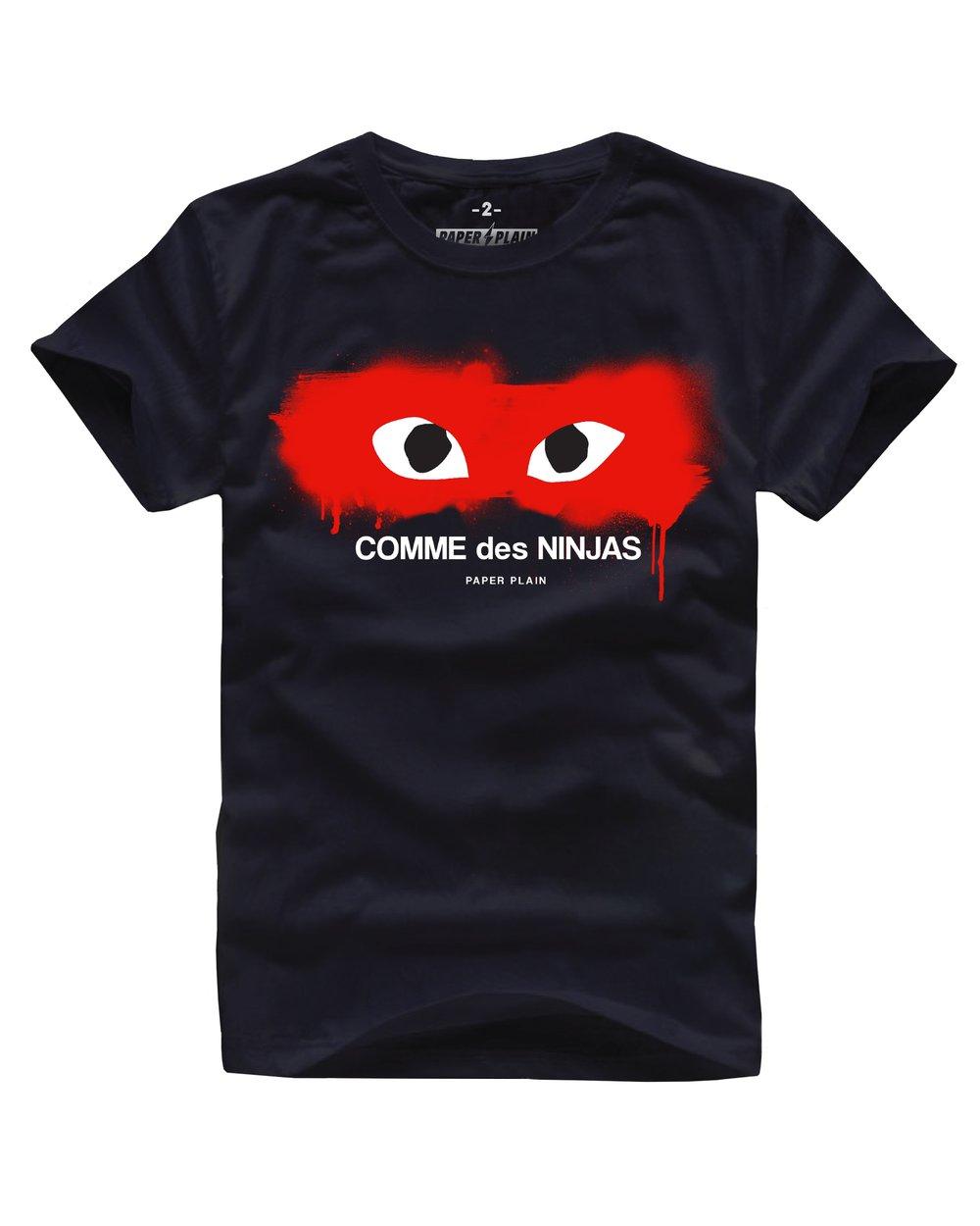 COMME DES NINJA 2.0 TEE BLACK/RED