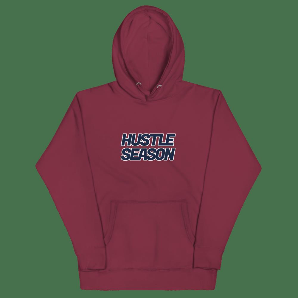 Image of Hustle Season Premium Hoodie  - Maroon