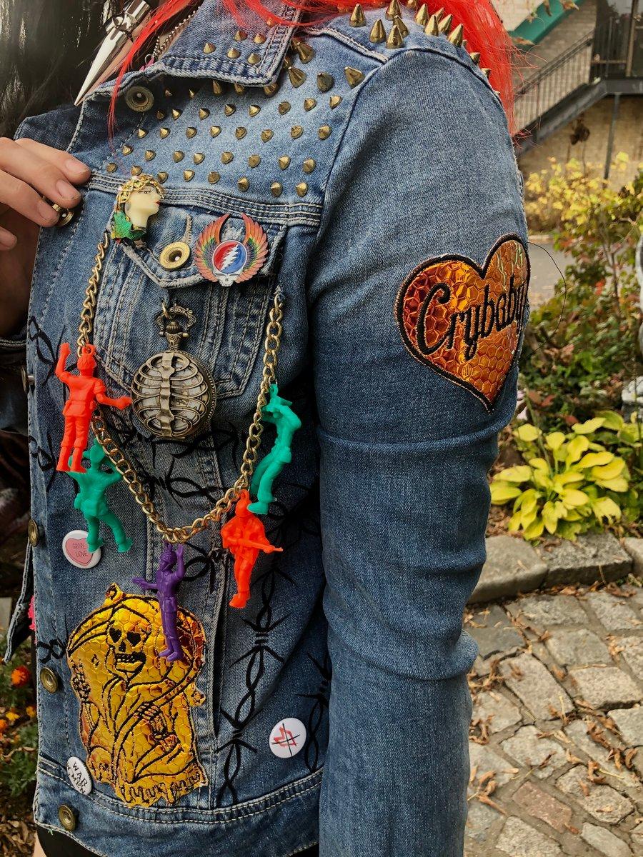 Image of Jaguar Lady Punk Studded Denim Jacket