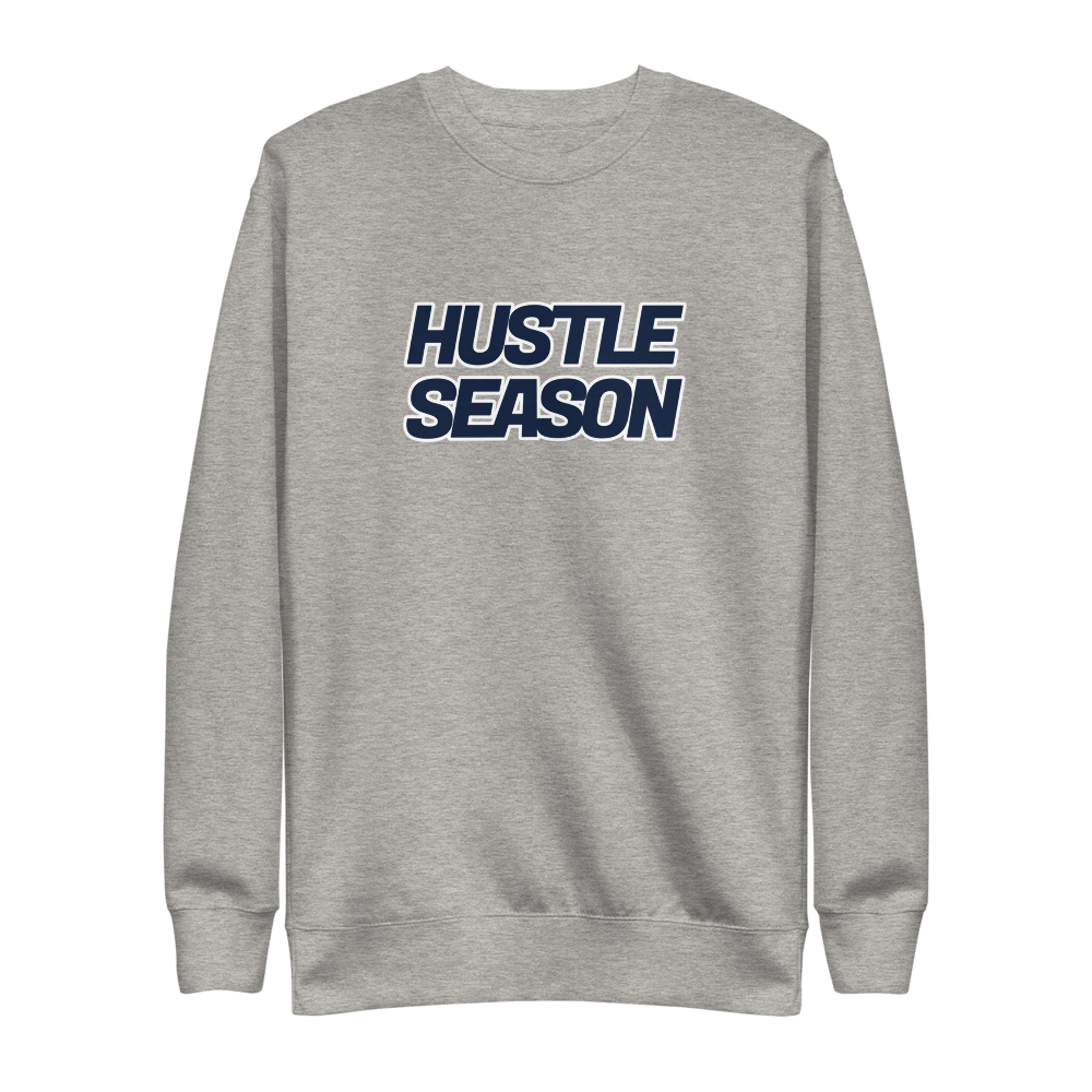 Image of Hustle Season Premium Crewneck - Grey