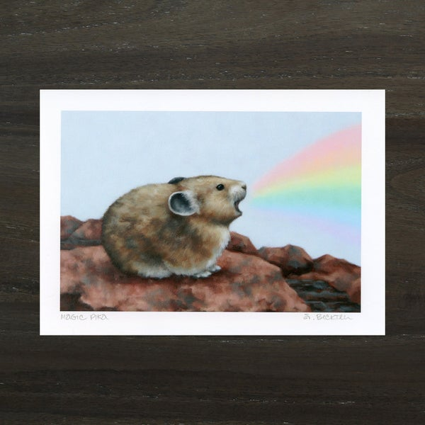 "Image of ""Magic Pika"" Mini Art Print"