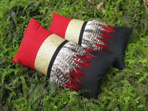 Image of Pohutukawa rectangular cushion