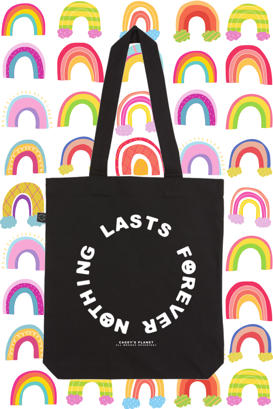 Image of Nothing Lasts Forever Tote Bag (Black)