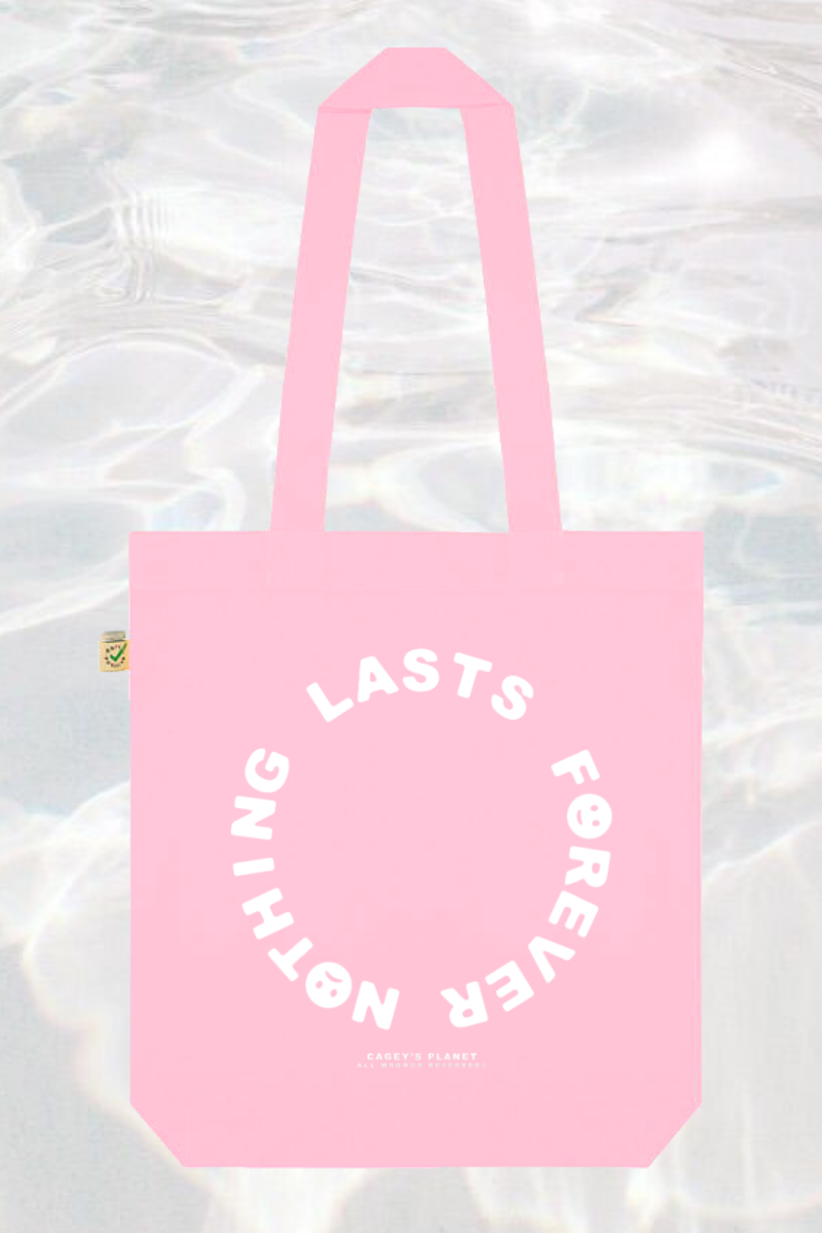 Image of Nothing Lasts Forever Tote Bag (Pink)