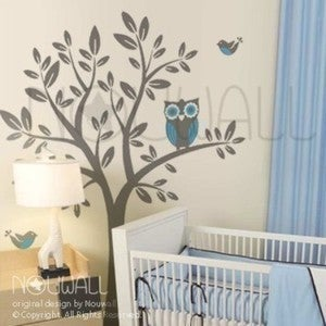 A Giggle And A Hoot Owl Removable Vinyl Wall Decal Art   090