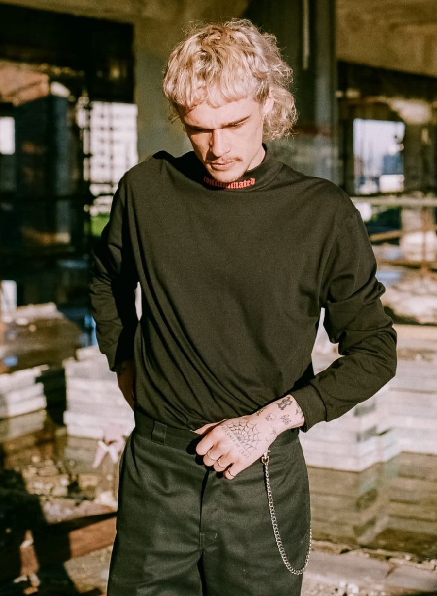 Image of CONTAMINATED Turtleneck (BLACK)
