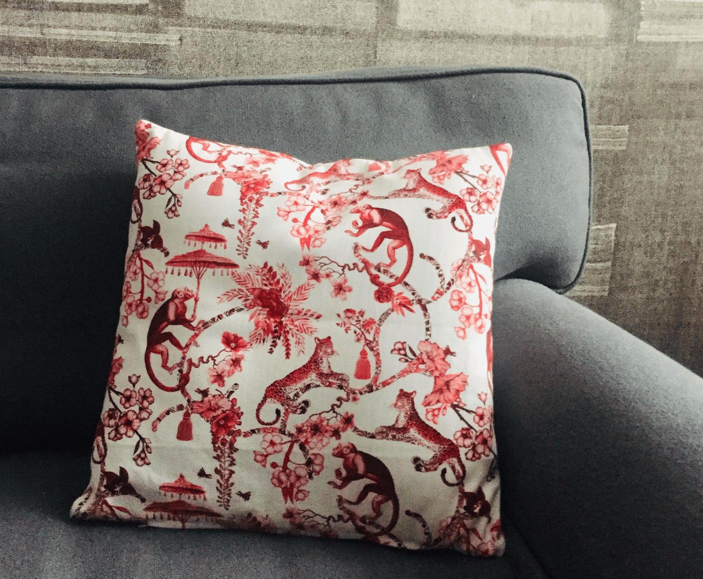 Image of Fodera per cuscino Chinoiserie - Chinoiserie cushion cover