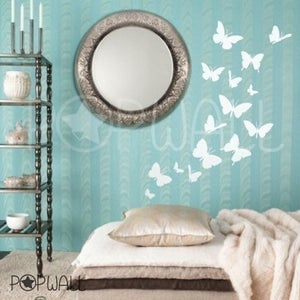 Image of Vinyl Wall Art Sticker Decal - Butterflies Theme - 024