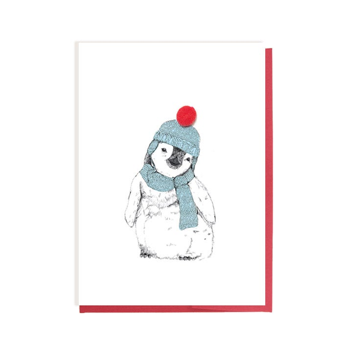 Image of Baby Penguin in Bobble Hat Card
