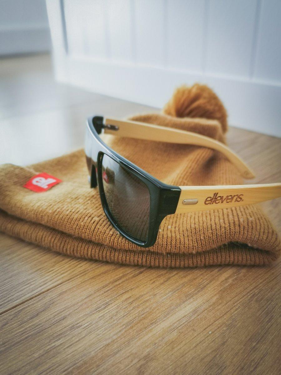 Image of E11evens - Mens modern style, solid black sunglasses