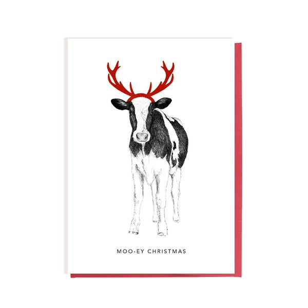 Image of Cow with Antlers