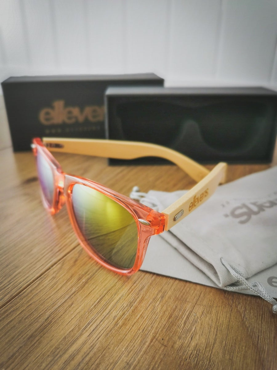 Image of E11evens - Ladies pink/clear sunglasses