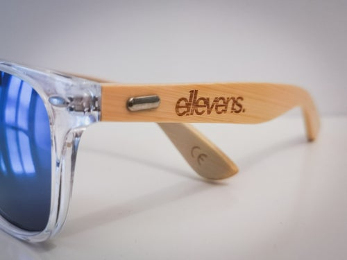 Image of E11evens - Mens clear sunglasses