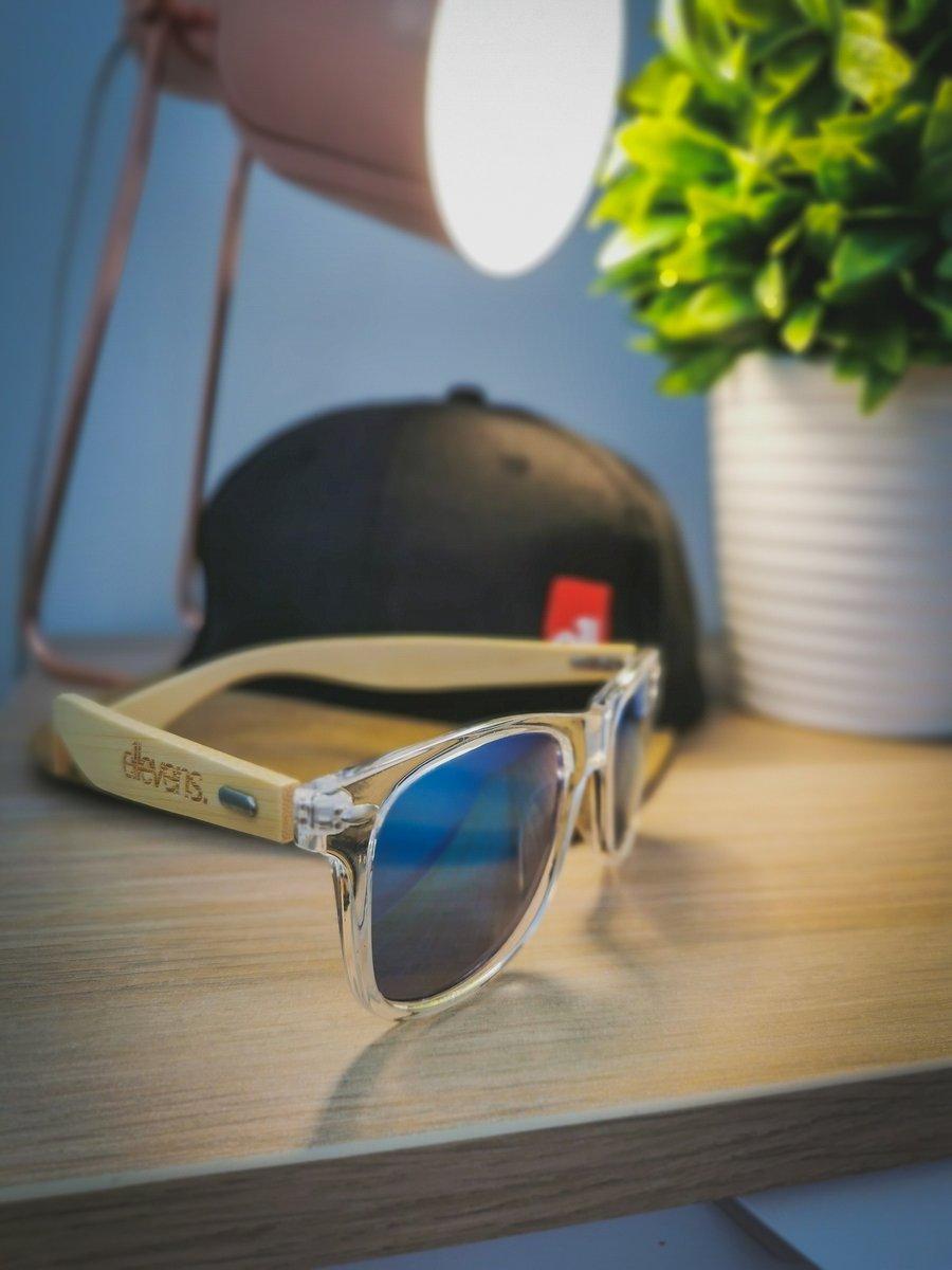 Image of E11evens - Mens clear sunglasses