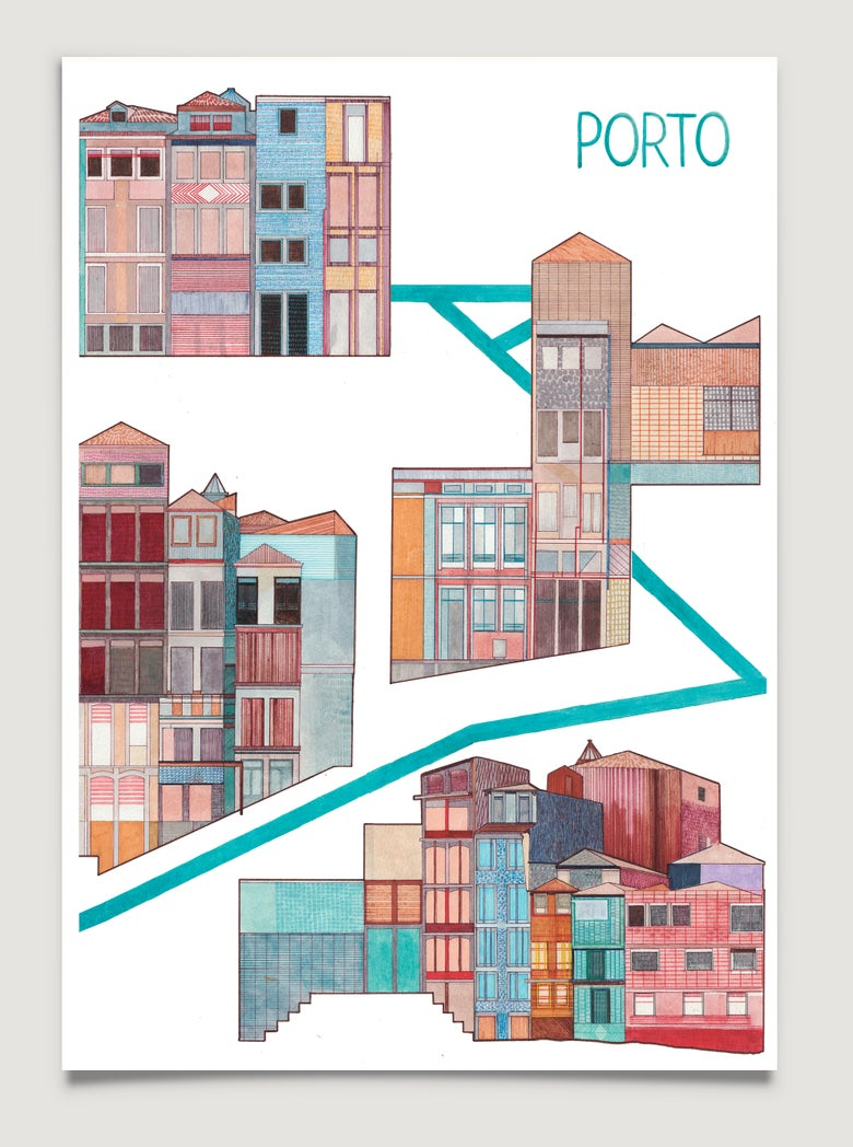 Image of Porto Poster by Isabel Albertos