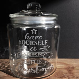 Image of 'Have yourself a merry little Christmas' glass jar