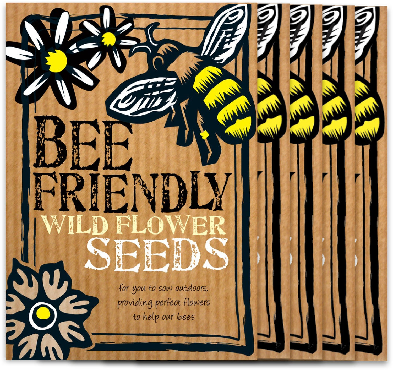 Image of Bumper 5 Pack of Bee Friendly Wild Flower Seeds (£14.40 incl VAT)