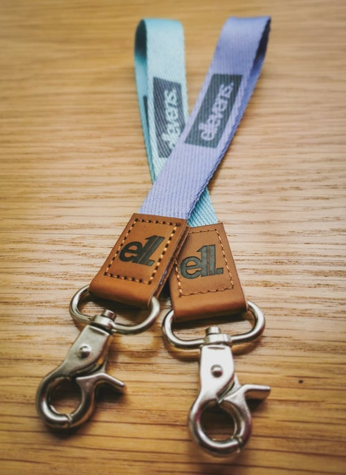 Image of E11evens - Pastel teal/turquoise short lanyards