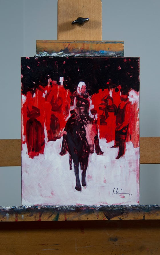 Image of The Witcher, Fading Memories #3 PRELIMINARY OIL STUDY