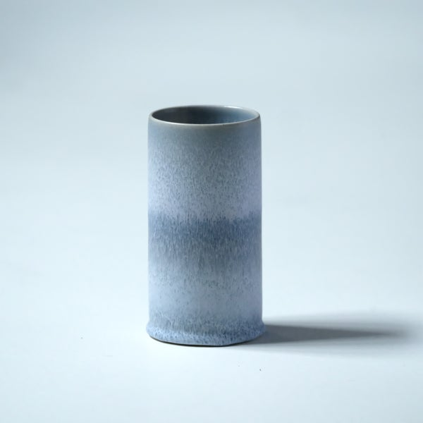 Image of UNIKA CYLINDER IN FROSTED BLUE GLAZE