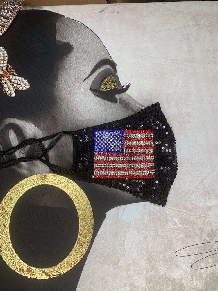 Image of USA sequin mask