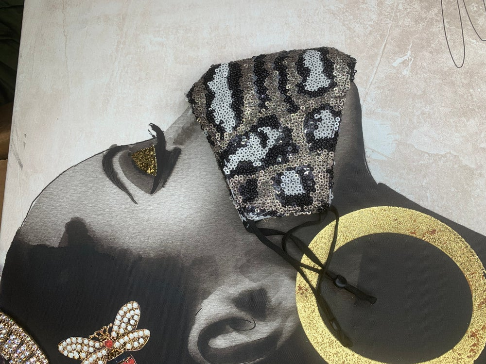 Image of Sequin champagne black