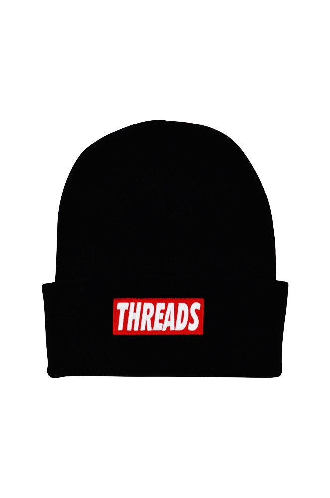 Image of THREADS Beanie - Red/White