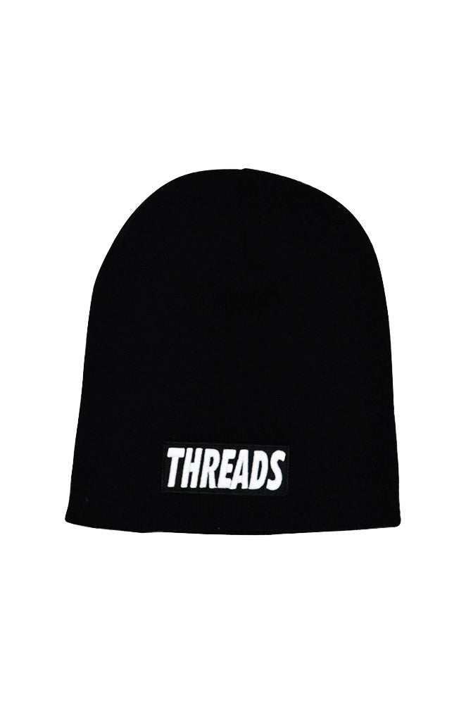 "Image of THREADS 8"" Beanie - Black/White"