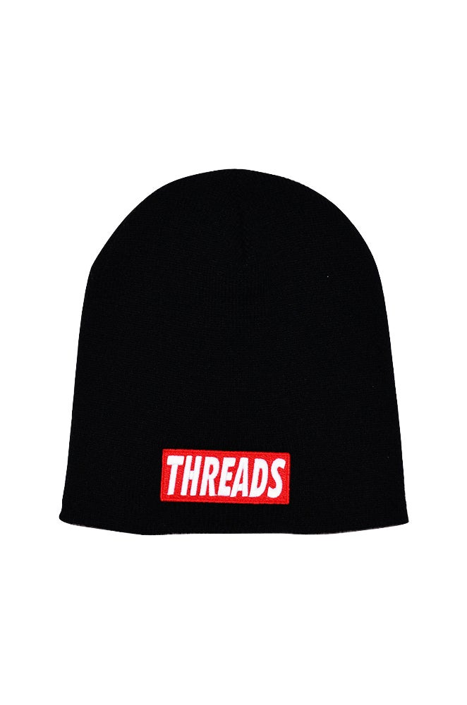 """Image of THREADS 8"""" Beanie - Red/White"""