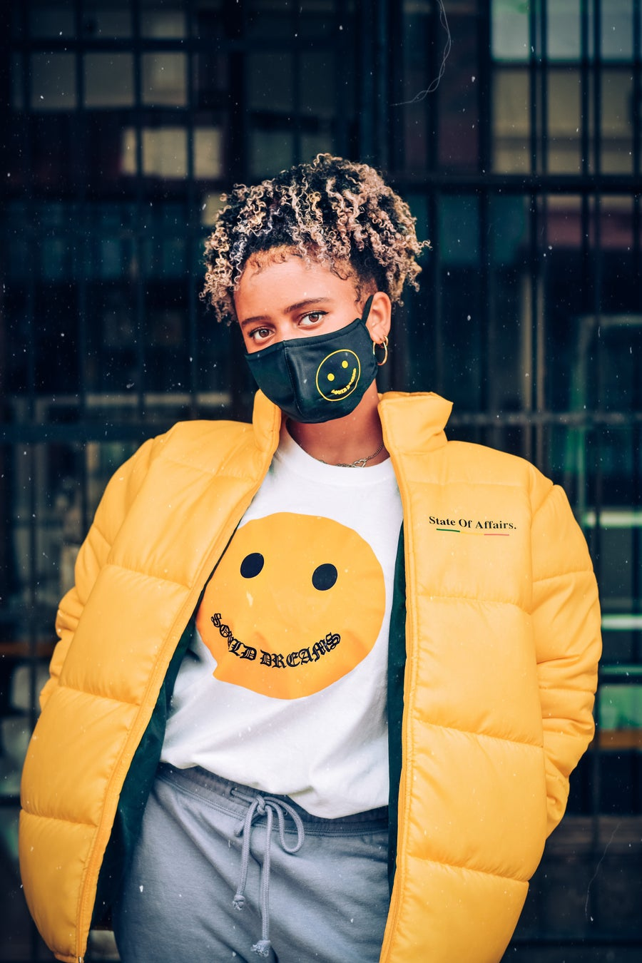 Image of SOA Yellow Bomber Jacket (Oversized)